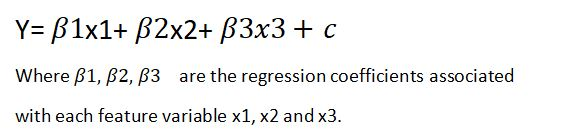 multiple linear regression equation